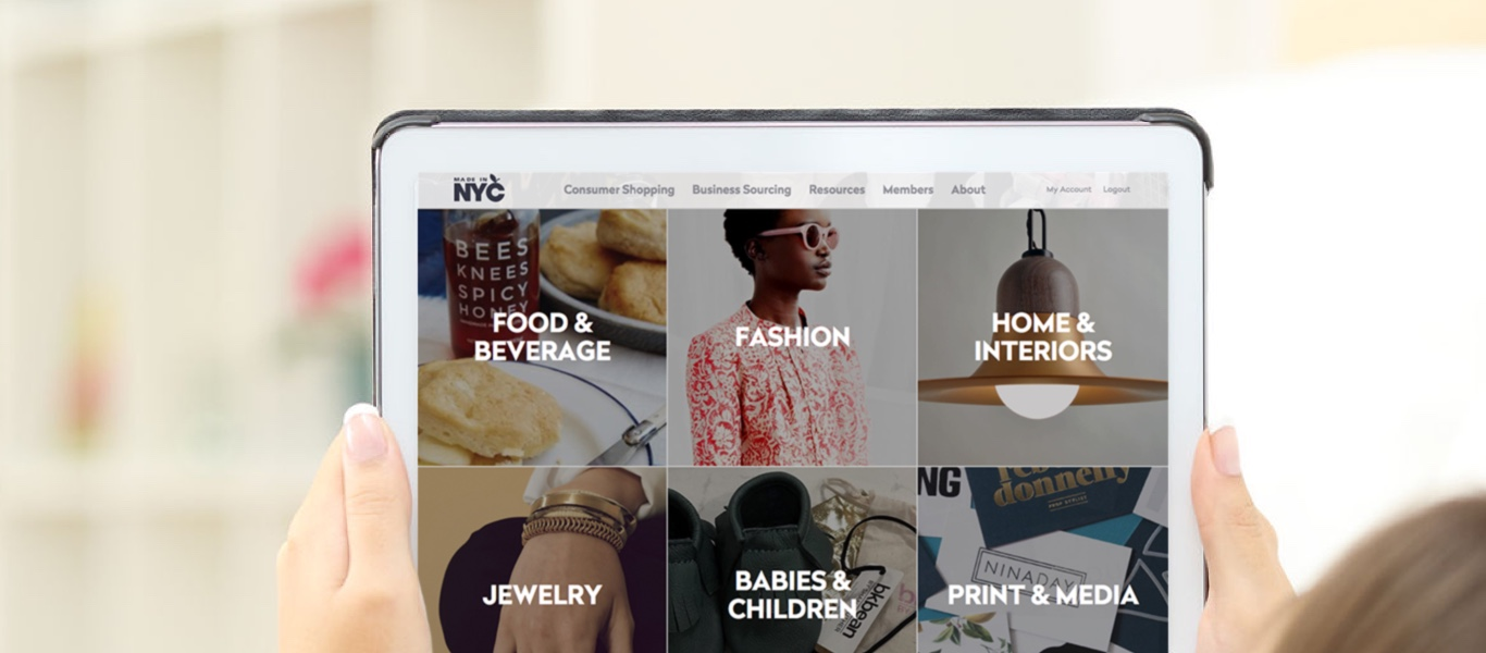 Finding Local Products – Made in NYC Redesign