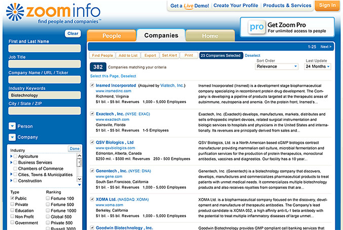 ZoomInfo Redesigns Pro Software and Website   Percepted