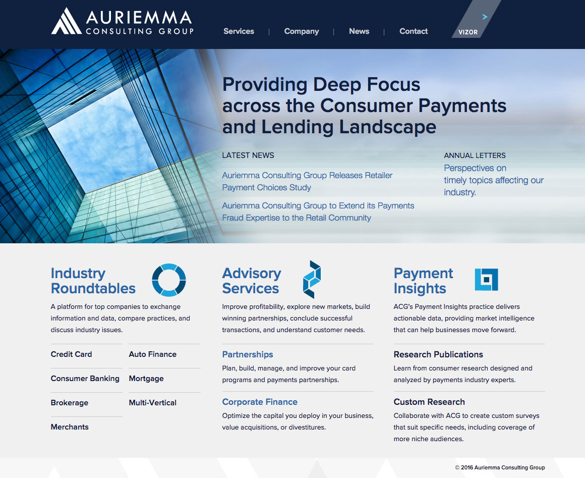 Auriemma Consulting Group Website