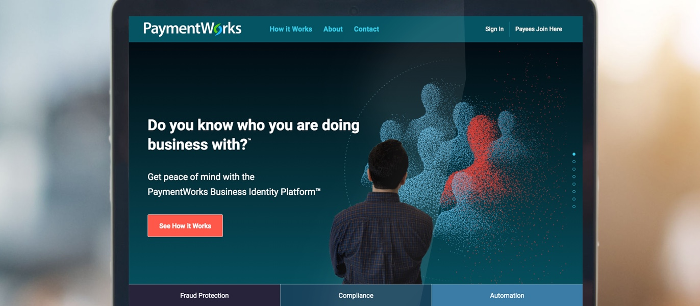 Redesigning the PaymentWorks website