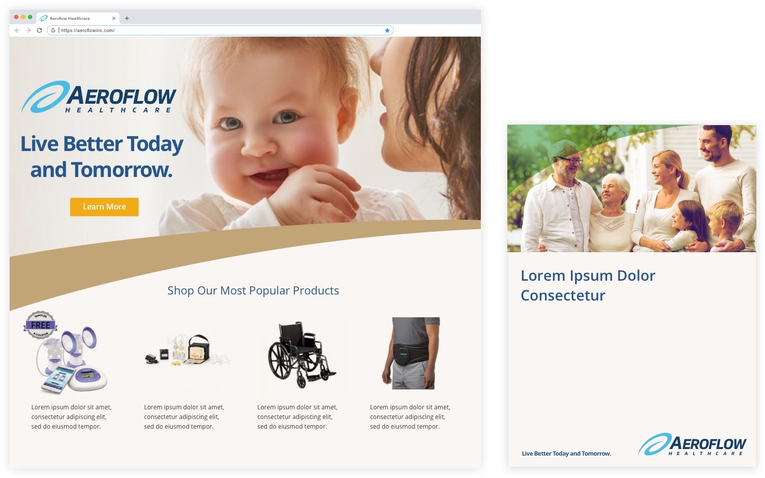 Aeroflow Healthcare Identity Design