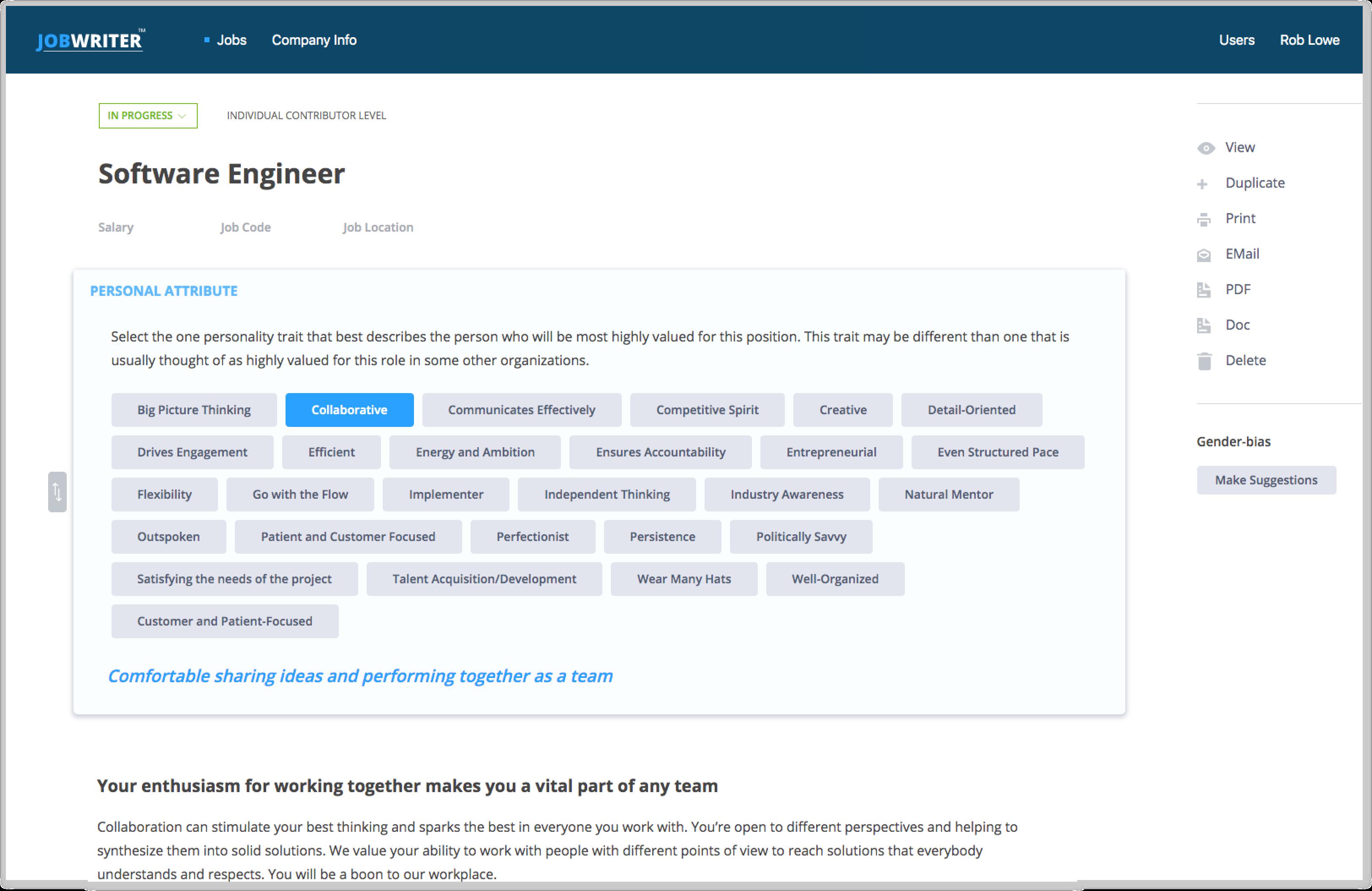 JobWriter app gets redesign